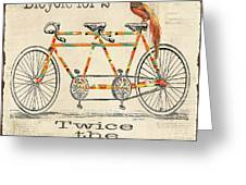 Bicycle For 2 Greeting Card