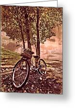 Bicycle In The Park Greeting Card