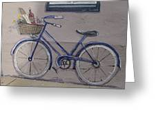 Bicycle Leaning On A Wall Greeting Card
