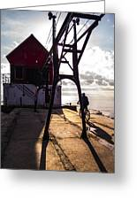 Bicycle On Grand Haven Pier Greeting Card