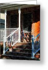 Bicycle On Porch Greeting Card