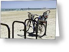 Bicycle On The North Shore-chicago Greeting Card