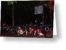 Bicycle Parking In Haarlem Greeting Card