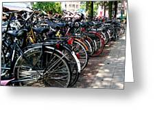 Bicycle Parking Lot Greeting Card