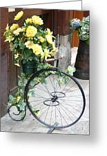 Bicycle Plant Holder Greeting Card