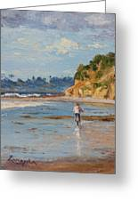 Bicycle Ride On Beach Greeting Card