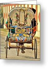 Bicycle Rikshaw - Kumbhla Mela - Allahabad India 2013 Greeting Card