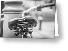 Bicycle Seat.  Greeting Card
