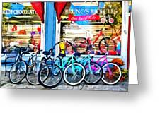 Bicycles And Chocolate Greeting Card