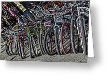 Bicycles For Rent Greeting Card