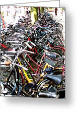 Bicycles In Amsterdam Greeting Card