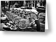 Bicycles - Velib Station - Paris Greeting Card