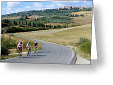 Bicycling In Tuscany Greeting Card