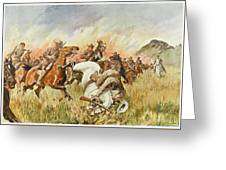 Biddulphsberg A British Cavalry Force Greeting Card