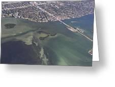 Bidr's Eye View Of Beautiful Miami Beachfront Greeting Card