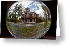 Bidwell Mansion Through A Glass Eye Greeting Card