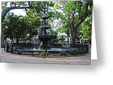 Bienville Fountain Mobile Alabama Greeting Card