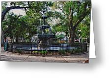 Bienville Square Fountain Closeup Greeting Card