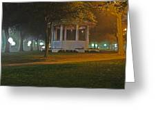 Bienville Square Grandstand In A Foggy Mist Greeting Card