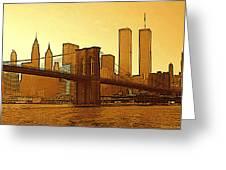 New York City - Big Apple Sunrise Greeting Card