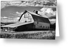 Big Barn Near Ellensburg Washington 2 Greeting Card