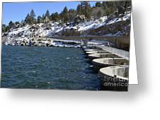 Big Bear Dam - California Greeting Card