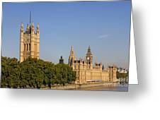 Big Ben And The Houses Of Parliament In London England Greeting Card