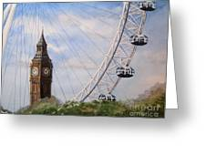 Big Ben And The London Eye Greeting Card
