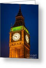 Big Ben At Night Greeting Card