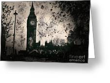 Big Ben Black And White Greeting Card