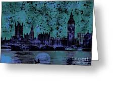 Big Ben On The River Thames Greeting Card