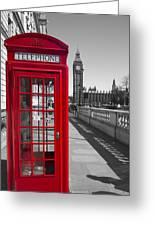 Big Ben Red Telephone Box Greeting Card