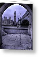 Big Ben Through The Arch Greeting Card