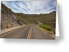 The Winding Roads Of Big Bend National Park Greeting Card