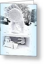Big Bird Snow Sculpture Greeting Card