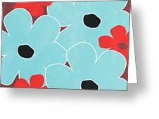 Big Blue Flowers Greeting Card