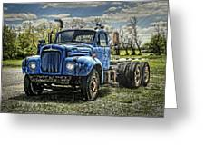 Big Blue Mack Greeting Card