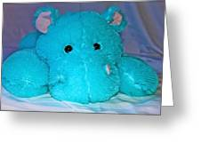 Big Blue Teddy Greeting Card