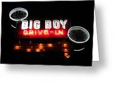 Big Boy Drive-in At Night Greeting Card