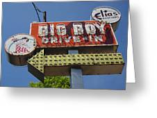 Big Boy Drive-in Greeting Card