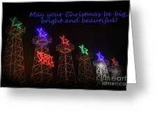 Big Bright Christmas Greeting  Greeting Card