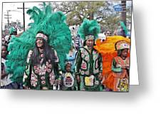 Big Chief Monk Boudreaux Greeting Card
