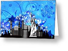 Big City Blues 4 Liberty Greeting Card