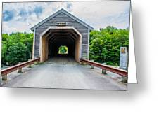 Big Covered Bridge Greeting Card by Jason Brow