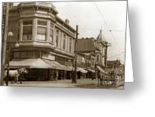 Big Curio Store Santa Cruz At 28 Pacific Avenue On The Corner Of Lincoln And Pacific. 1908 Greeting Card