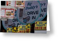 Big Daddy's Drive Inn Auburn Wa Greeting Card