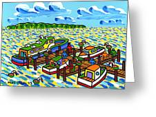 Big Dock - Cedar Key Greeting Card