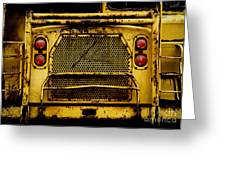 Big Dump Truck Grille Greeting Card