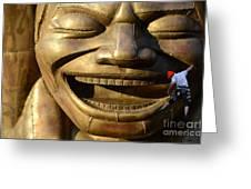 Big Face Climber Greeting Card