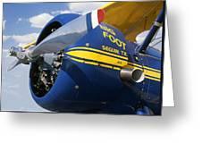 Big Foot Biplane Greeting Card